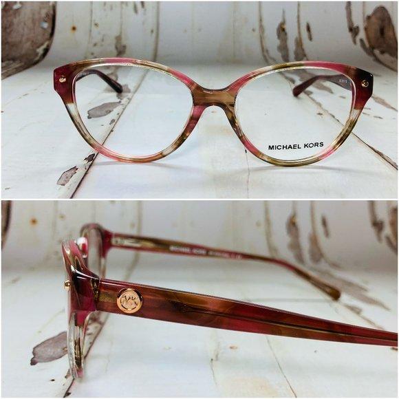 Michael Kors Cat Eye Pink Eyeglasses Frames NWOT